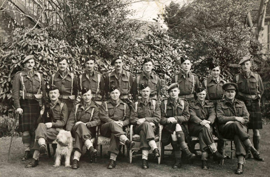 No. 4 Independent Company Officers at Sandwich 1940.