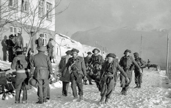 Evacuating the wounded from Vaagso