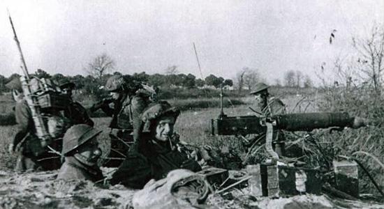 No 2 Commando Heavy Weapons Troop at Comacchio