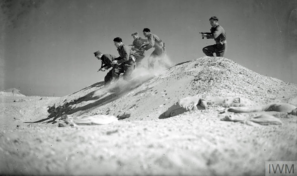 Royal Naval Commandos training at Bitter Lakes