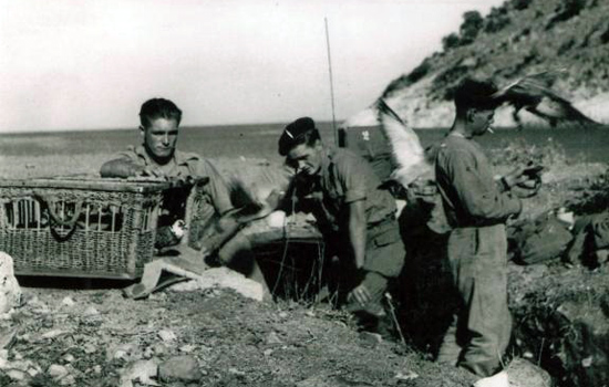 Signallers from No 2 Commando at Sarande
