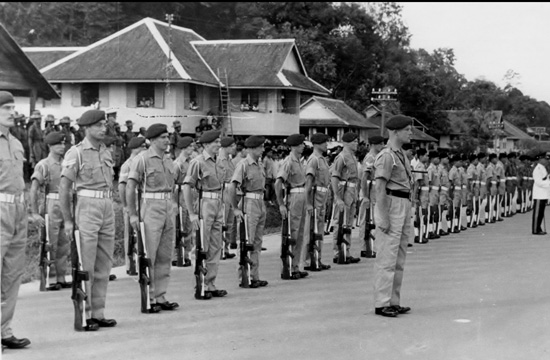 Guard of Honour provided by 'L' Company 42 Commando under Lt. P.S. Waters R.M