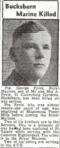 Marine George Fyvie 46 Royal Marine Commando
