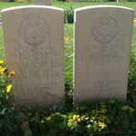 Graves of Marines Wise, Porter, Denmark and Spencer