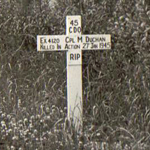 Original grave of Cpl Duchan 45RM Commando