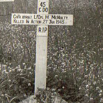 Original grave of LCpl. McNulty 45RM Commando