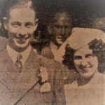 Frank Elms and his wife Joan on wedding day