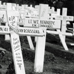 Graves of Pte Rousseau and others