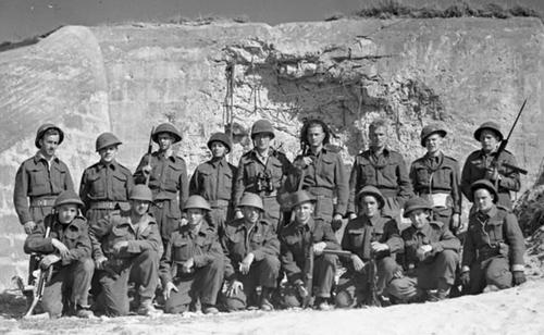 RN 'W2' Commando Juno beach