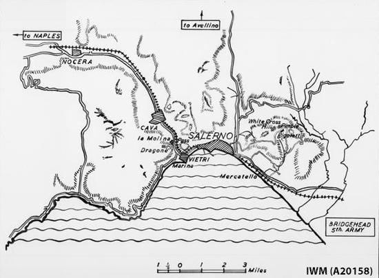 Salerno map © IWM (A 20158)