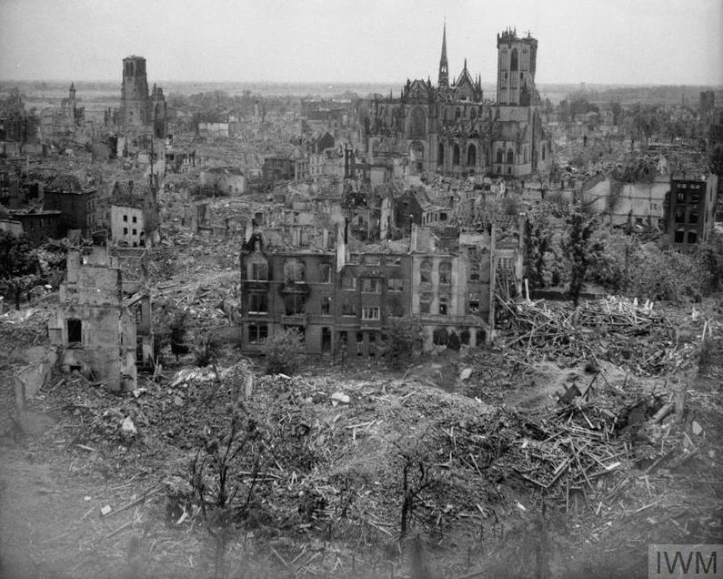 Wesel after the capture March 1945