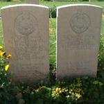 Graves of Marines Wise, Porter, Denmark and Spencer