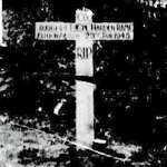 Original grave of LCpl Harden VC