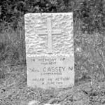 Grave of LCpl Cassey Commando Brigade Sigs.