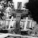 Original Grave of Pte JH Knight 4 Commando