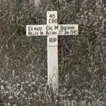 Original grave of Cpl Duchan 45RM Commando