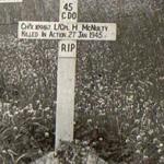 Original grave of LCpl. McNulty 45RM Commando