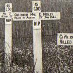 Original grave of Mne. Mosley 45RM Commando